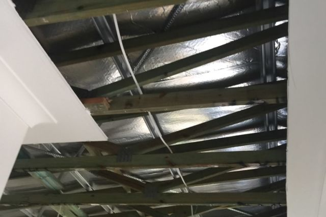 Ceiling space mould free